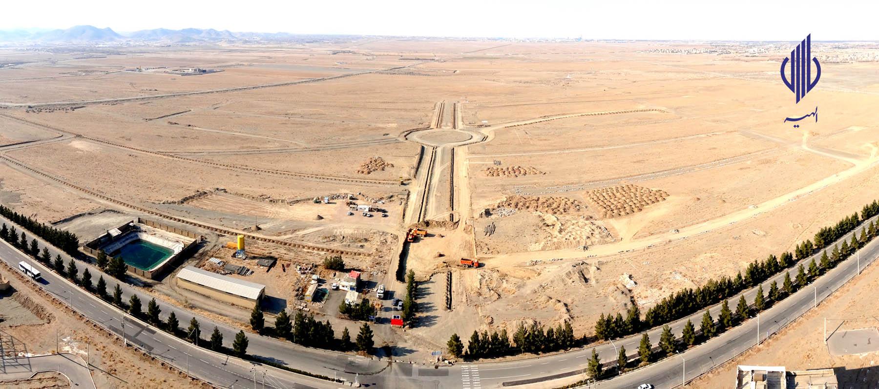 عملیات آماده سازی پروژه شهر سبز الهیه – امروز ۱۳۹۶/۱۱/۱۲
