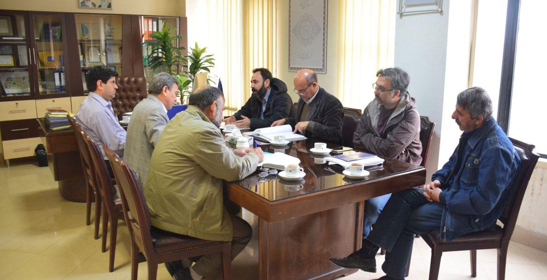 جلسه با کارشناسان راه و شهرسازی